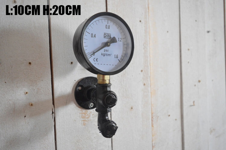 US $20 0 |Industrial style 1 piece Retro Cast Iron Pipe Hook With Flange  Pressure gauge hook Clothe Industry Style Pipe Valve Hook -in Pipe Fittings