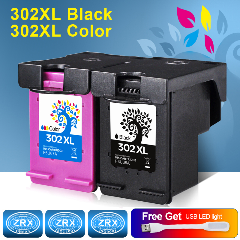 2pcs Ink Cartridge for HP 302XL HP302XL F6U68AE F6U67AE for HP Deskjet 1110 1115 2130 2135 3630 3830  OfficeJet 4650   ENVY 4520 for hp 655 refillable ink cartridge for hp deskjet 3525 4615 4625 5525 6520 6525 for hp dey ink bottle 4 color universal 400ml