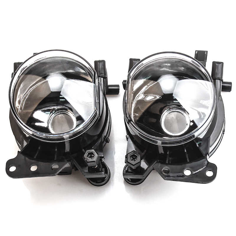 Front Fog Lights Halogen LED Bulbs with Wires For BMW E60 E90 E63 E46 3 5 6 series 2003-2009 Fog Lamps Housing Lens Clear