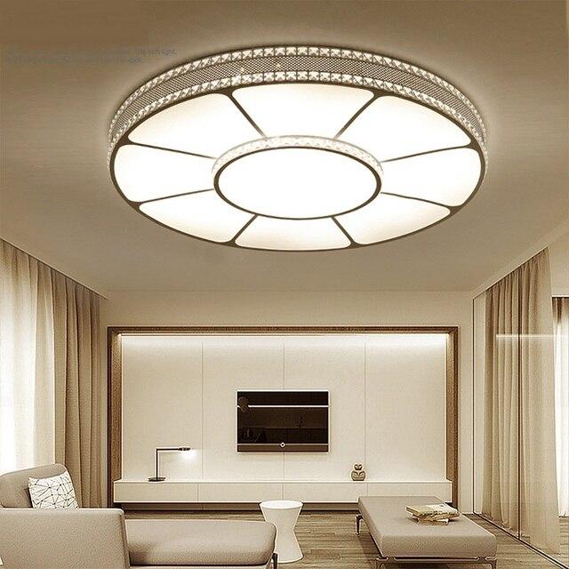 Led Ceiling Lamp Round Crystal Warm Master Bedroom Modern Brief Restaurant Room Lighting Living