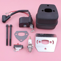Ignition Coil Exhaust Muffler For Husqvarna 136 137 141 36 41 Bolt Gasket Cooling Plate Stop Switch Chainsaw Replace Part