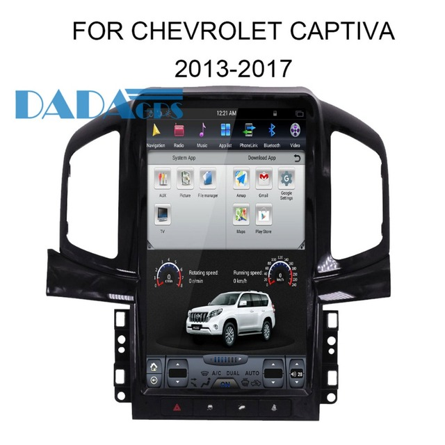Tesla Style Android Car Radio Gps Navigation For Chevrolet Captiva