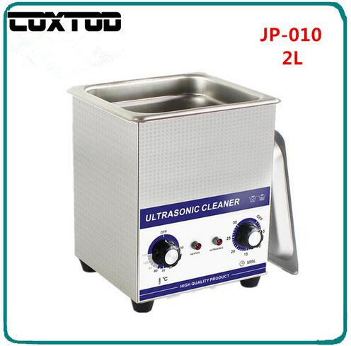COXTOD JP 010 Ultrasonic Jewelry Cleaner 2L Baskets Watches Dental PCB Glass CD Washer Heated Ultrasound Cleaner Ultrasonic Bath
