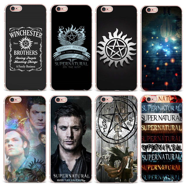 innovative design ad0b4 f77ed US $1.03 30% OFF|Supernatural Phone Case Cover For Apple iPhone 8 7 7Plus 6  6S Plus 5S SE Soft Silicone Protective Case For Coque iPhone X Case-in ...