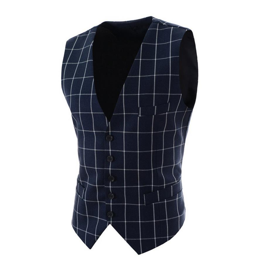 d199f80558d Light Grey Suit Vest Mens Wedding Waistcoat V Neck Black Cotton ...