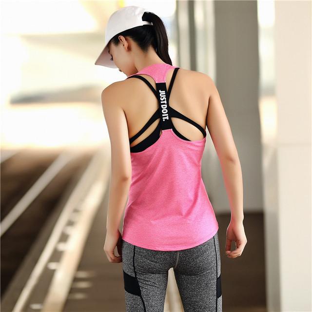 Yoga Tank Top Sleeveless Gym Shirt Women Sports Shirt Women Running Shirt Tank Tops Vest Fitness Candy Color Crop Top