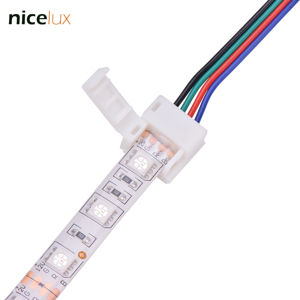 5pcs 2 Pin 4 Pin LED Strip Connector for SMD 8mm 10mm 3528 5050 RGB Single Color IP65/54 Waterproof LED Tape Light to Wire Joint 1pcs rgb connector 4pin 1 to 2 3 4 cable rgb led flexible strip female connector for smd 3528 5050 rgb strip light