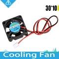 V6/V5 радиатора 3010 вентилятор 30*30*10 мм/3d принтер 3010 вентилятор охлаждения экструдер малого вентилятор аксессуары 2-проводной 12 В/24 В 0.11 А