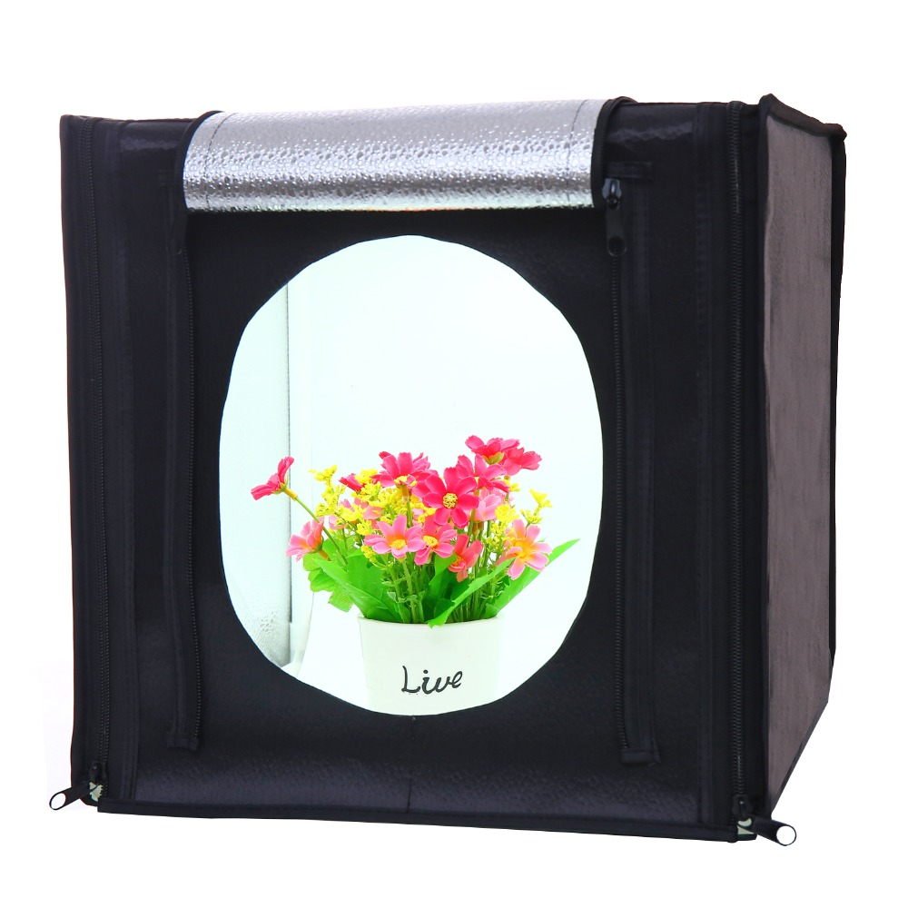 CY30*30cm LED Photo Studio Softbox Shooting Light Tent Soft Box + Portable Bag + AC Adapter for Jewelry Toys Shoting send tripod
