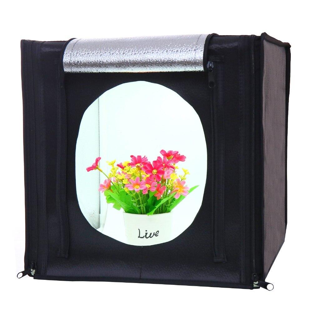 CY30*30cm LED Photo Studio Softbox Shooting Light Tent Soft Box + Portable Bag + AC Adapter for Jewelry Toys Shoting send tripod
