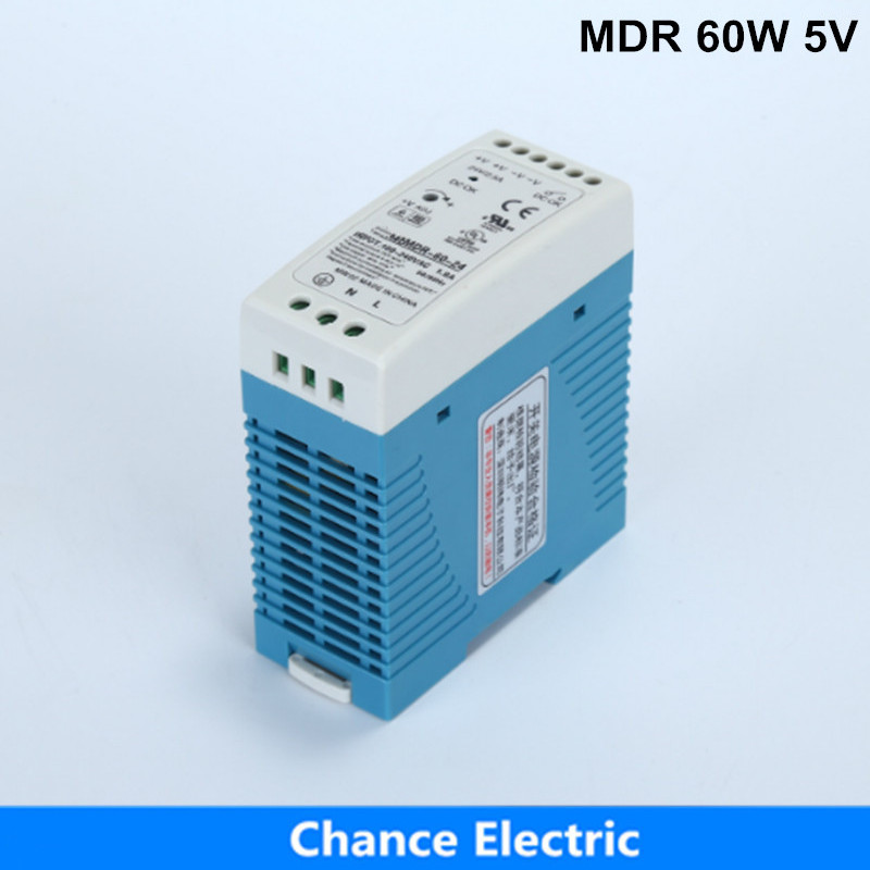 free shipping DIN Rail Industry Switching Power Supply MDR 60W 24V 2.5A for cnc cctv led light (MDR60W-24V) free shipping din rail industry switching power supply mdr 60w 5v 12a for cnc cctv led light mdr60w 5v