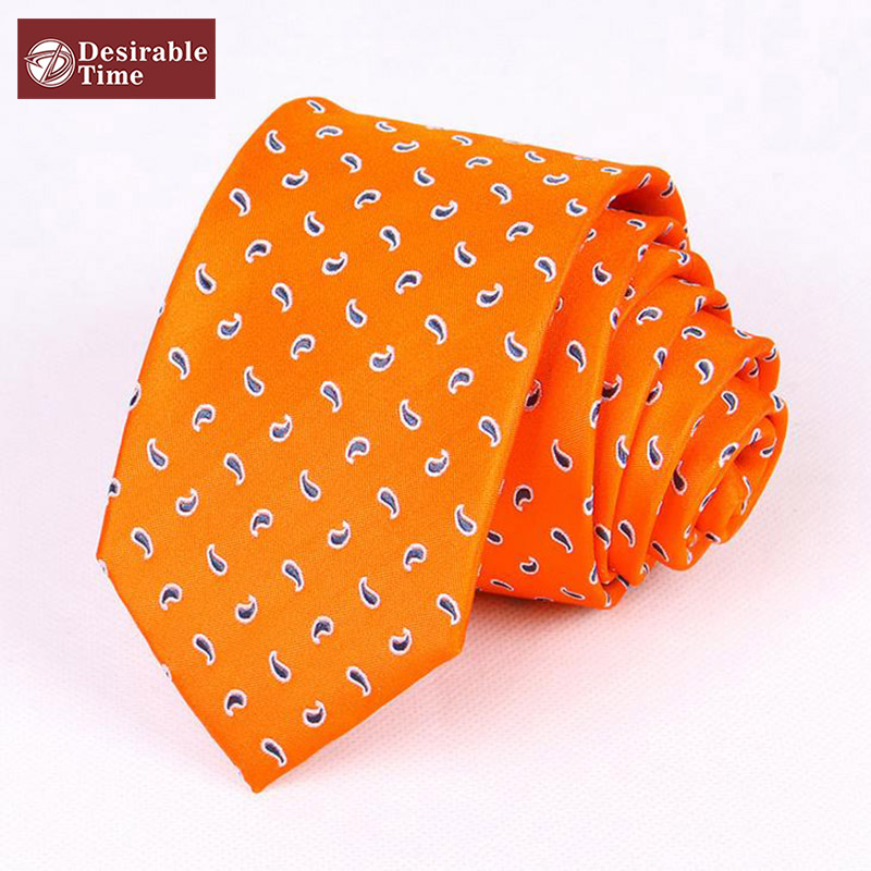 Popular Orange Paisley Ties Buy Cheap Orange Paisley Ties