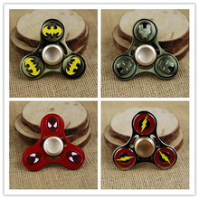 2017 New Fidget Toy BatMan Captain America Shield Iron Man Spiderman Hand Spinner Finger Stress Spinner Tri Spinner
