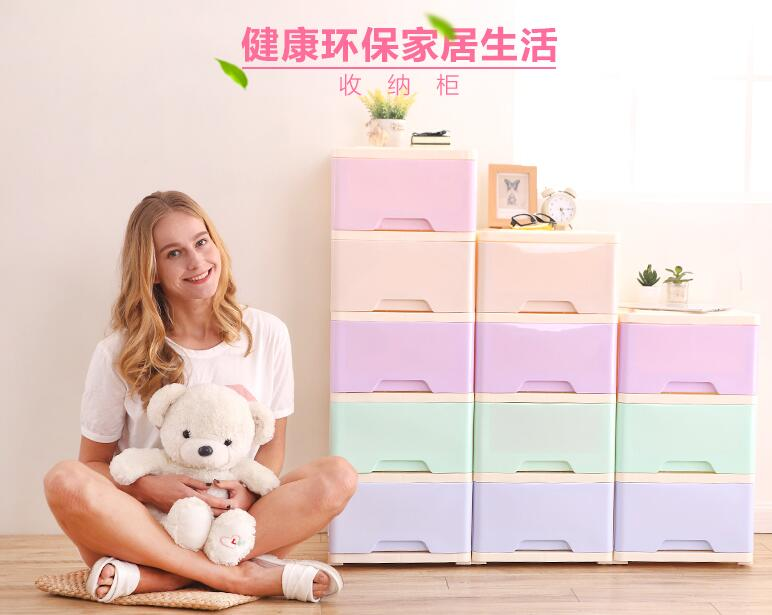 King Size Clothes Drawer Storage Cabinets Wardrobe Lockers Finishing Plastic Storage Box