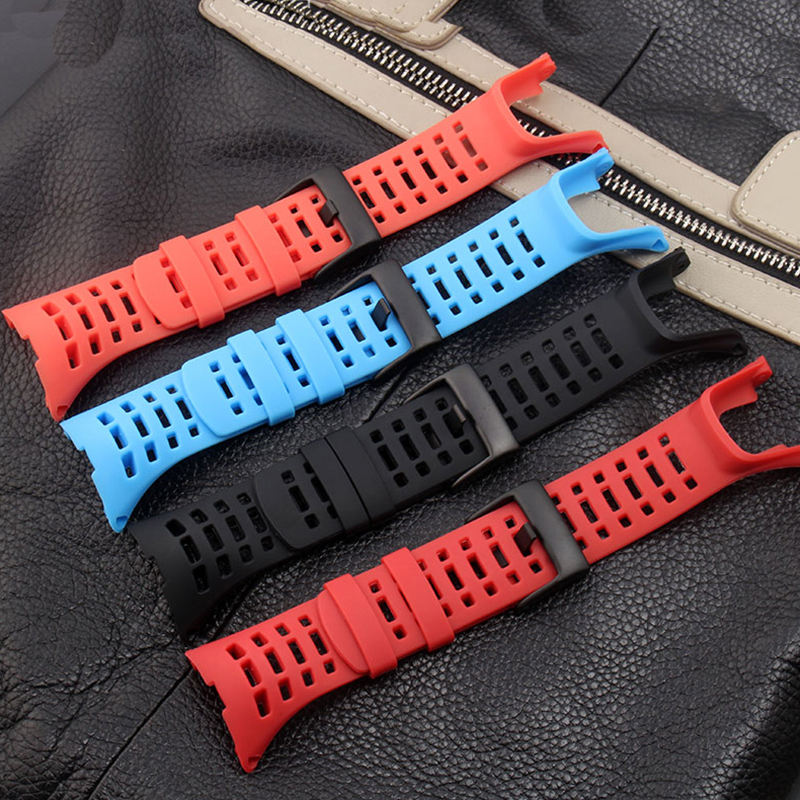 BRETA strap 32MM black red orange blue waterproof rubber strap with buckle for suunto AMBIT3R GPS 3peak outdoor sports watch disposable waterproof camera with strap light blue