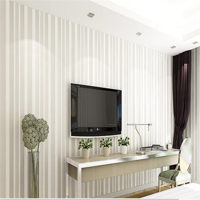 beibehang Simple non-woven wall paper thickened 3D living room vertical striped background wall papel de parede 3d wallpaper beibehang mediterranean blue striped 3d wallpaper non woven bedroom pink living room background wall papel de parede wall paper
