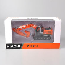 DiecastHiachi 1/50 Scale Zaxis ZH200 Excavator Die-Cast Model Tracks Vehicle Toys Truck Car Vehicles Diecast