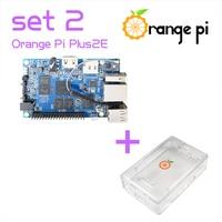 Orange Pi Plus 2E SET2: Plus 2E+ Transparent ABS Case for Orange Pi Support Android, Ubuntu, Debian Beyond Raspberry