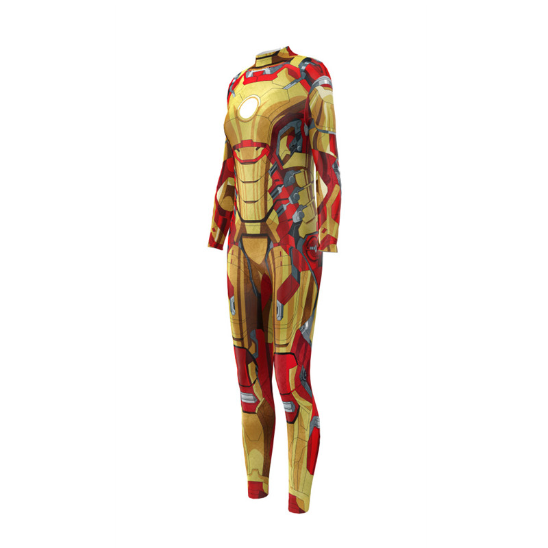 Iron Man Tony Stark Suit Zentai Bodysuit Cosplay Costume Movie Avengers Endgame Jumpsuit Rompers in Movie TV costumes from Novelty Special Use