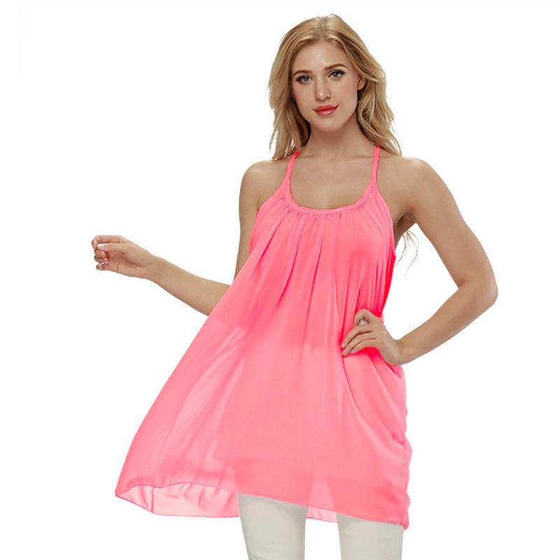 LASPERAL Plus Size 5XL Lady Sundress Women Summer Beach Dresses Chiffon  Voile Female Dress Fluorescence Women Clothing Vestidos 4534cbbb0ce5
