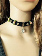 Punk Goth Cổ Áo Choker Pendant Necklace Harness Cổ Điển Cổ Harness Fetish Mang Nịt Tất, Belt Erotic Accessoies JQ004-1(China)