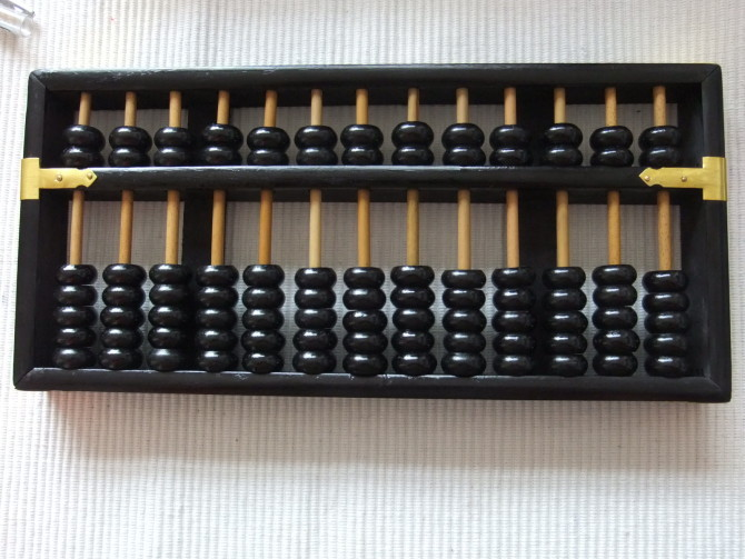 Noir vintage Grand Boulier Chinois soroban 13 colonne No 4 pour comptable banque outil mathématique l'éducation xmf066 livraison gratuite