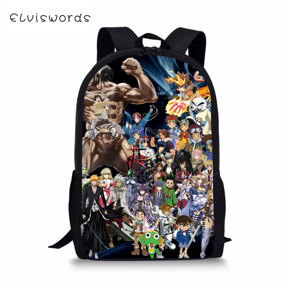 ELVISWORDS Children 39 s School Backpack Dragon Ball Travel Backpack Naruto Toddler Boys One Piece Bleach Girls School Book Bags in School Bags from Luggage amp Bags