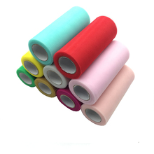 Tulle Roll 15cm 22m Fabric Spool Tutu Baby Shower Party Birthday Gift Wrap Wedding Decoration Favors Event Supplies