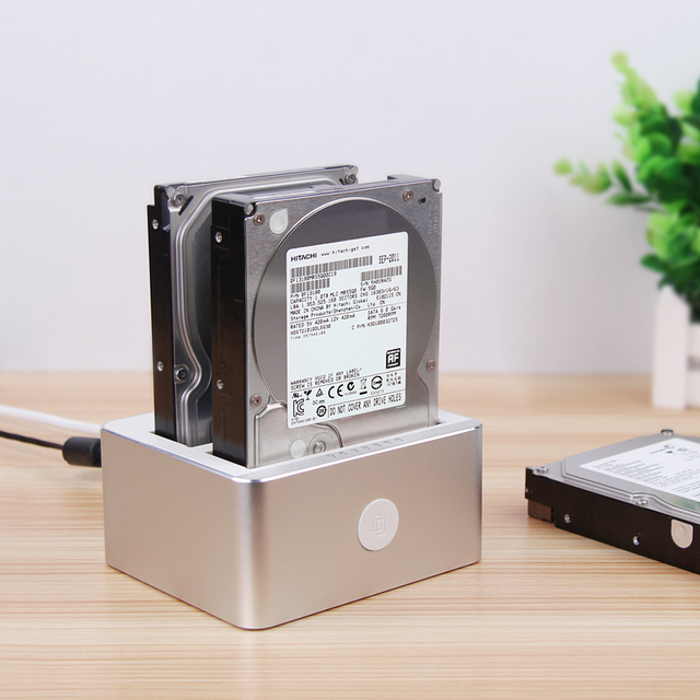 wholesale USB3.0 to SATA 2.5'/3.5' Dual Bay  Docking Station With  Clone Function support up to 12Tb hdd
