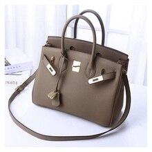fd506f275a75 women luxury brand genuine leather lock handbags female messenger bags  designer casual ladies tote crossbody bags