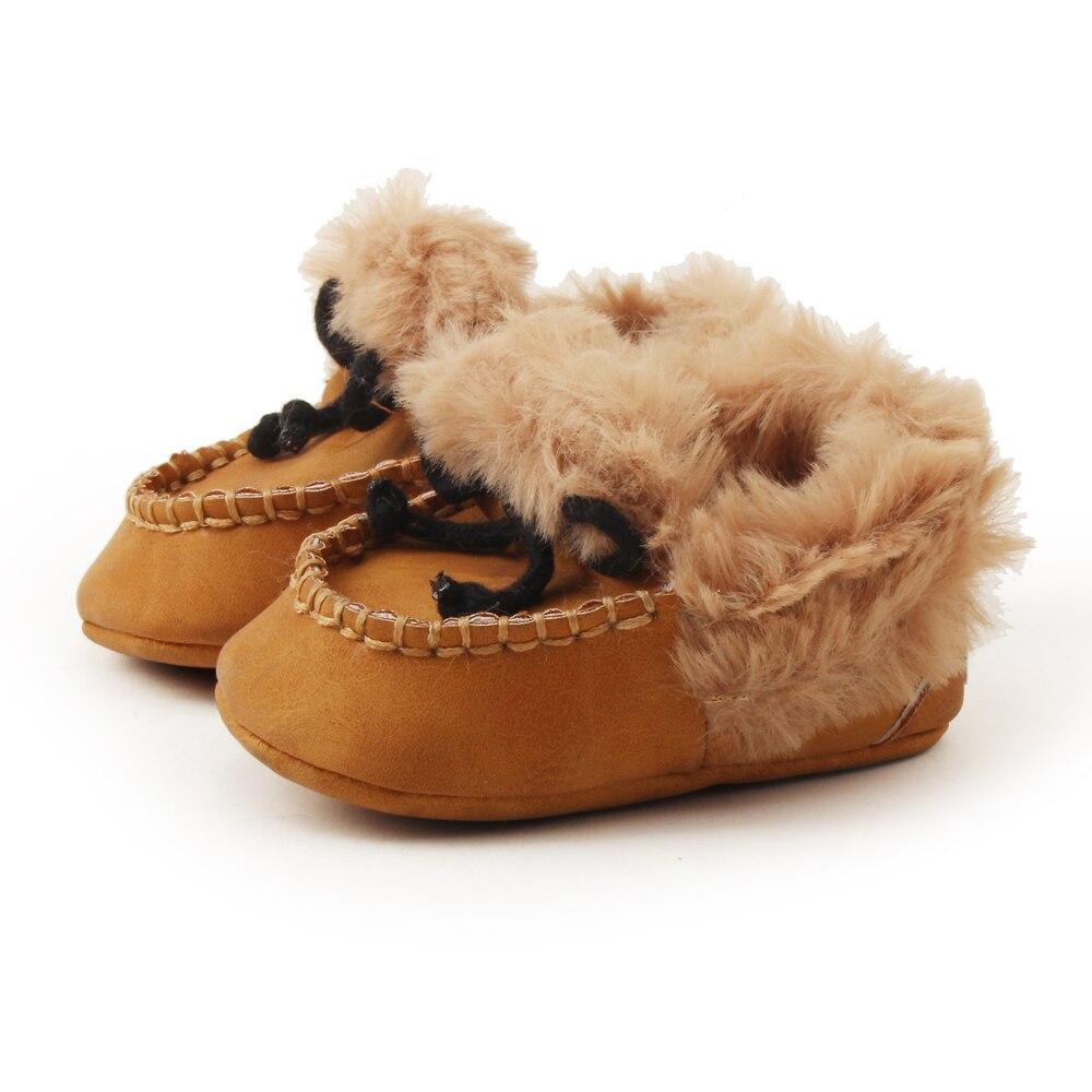 Delebao pluizige winter baby laarzen warme pasgeboren lace-up peuter - Baby schoentjes - Foto 6