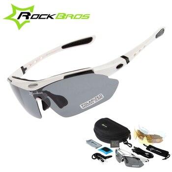 86b8d94ba9 RockBros los polarizadas ciclismo gafas de sol al aire libre deportes de  bicicletas clismo bicicleta de carretera MTB gafas de sol TR90 gafas 5 lente
