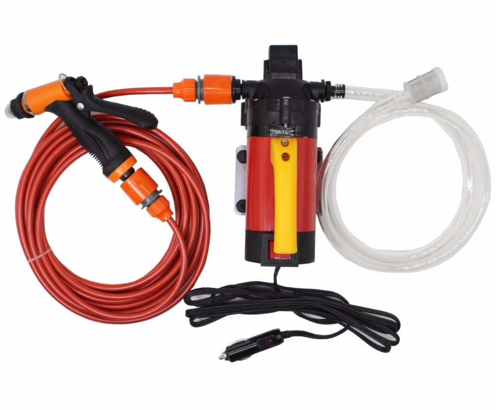 12V 120W High Pressure Self-priming Electric Car Wash Washer Washing Machine Water Pump with Cigarette Lighter Home Cleaner 12v 65w high pressure marine deck car washer wash water pump cleaner sprayer kit