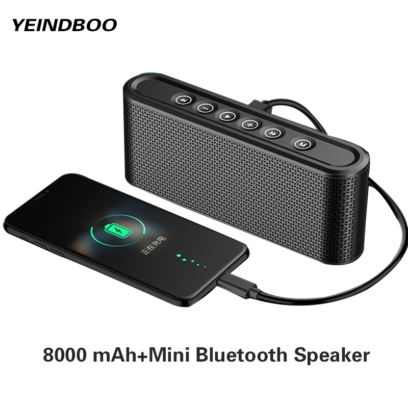 1000 mAh Usb Portable Power Bank Fast Charger External usb Power Battery Mini Bluetooth Speaker usb portable charger Two In One dual usb output universal thunder power bank portable external battery emergency charger 13000mah yb651 yoobao for electronics