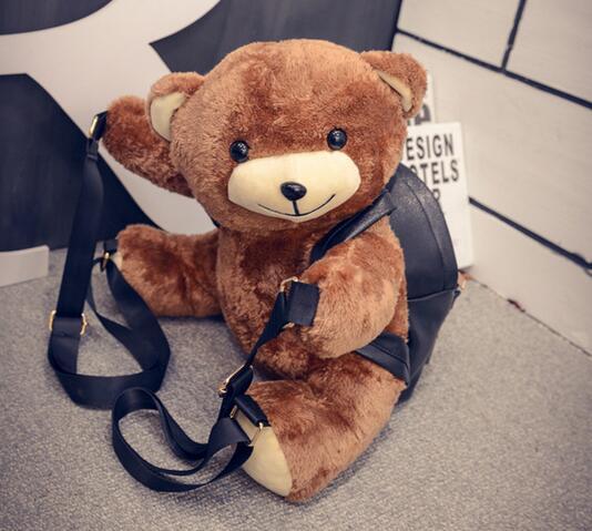 5cc258462ea6 candice guo! super cute cartoon plush papa bear carring bag ...