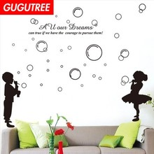 Decorate bubble letter art wall sticker decoration Decals mural painting Removable Decor Wallpaper LF-1830