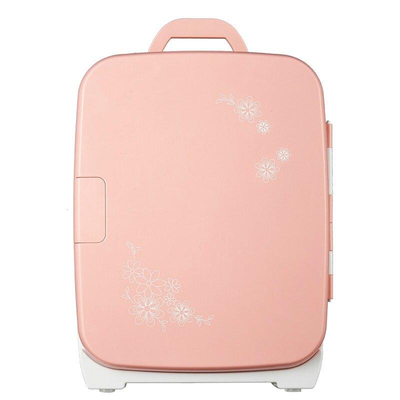 2 In 1 Home Car Fridge 15L Refrigerator 12v 220v Dual Use Mini Cooler Box Pink  Mini Frigo Nevera Icebox  Buzdolab Frigobar