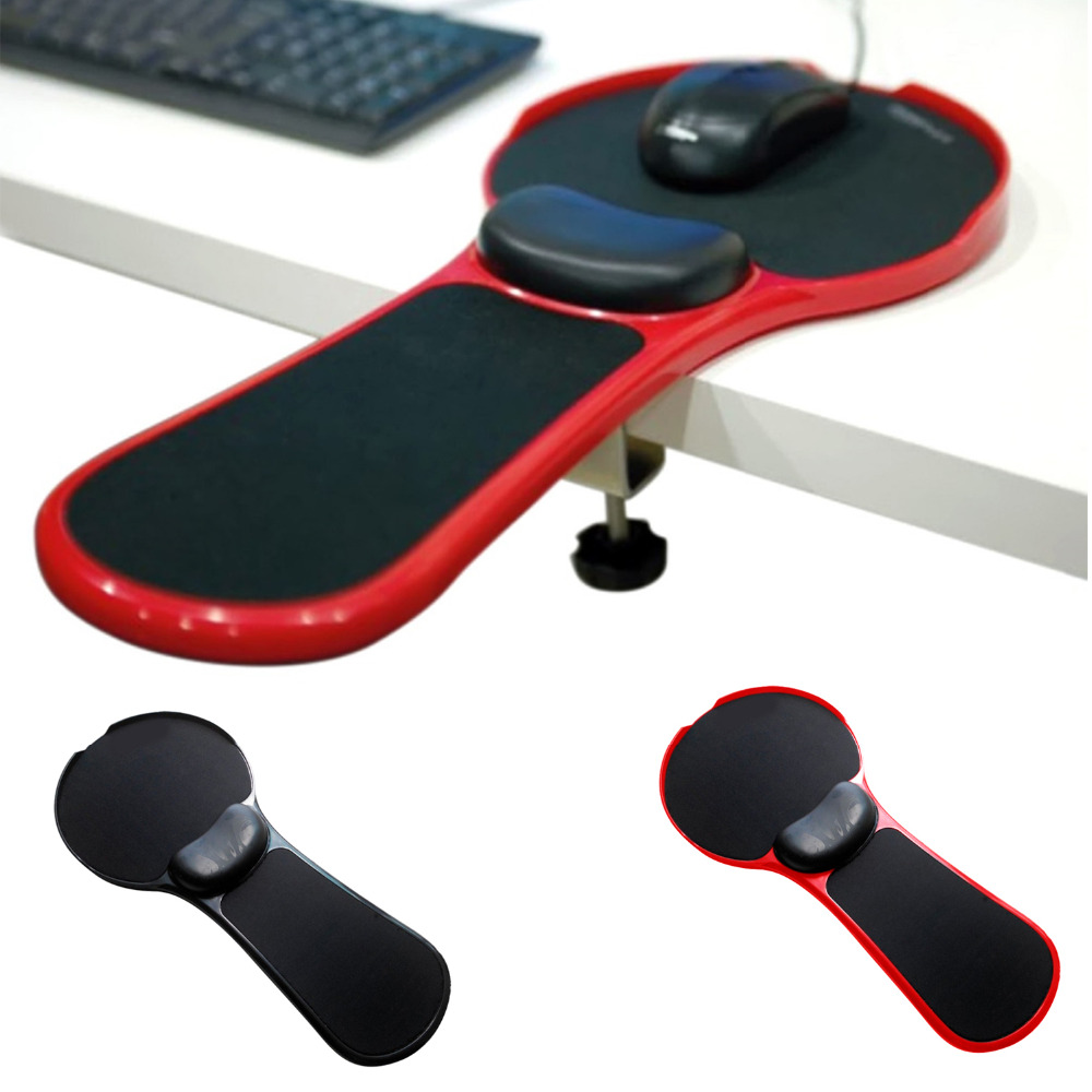 Adjustable Computer Wrist Rest Armrest Desk Chair Dual Purpose Attachable Home&Office Arm Support Mouse Pad Stand Desk Extender