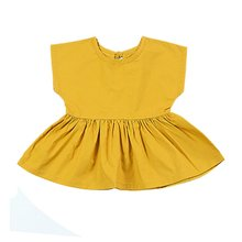 Baby Girl Clothing Summer Dress Cotton Sleeveless A-line for  Princess 0-3Y Clothes