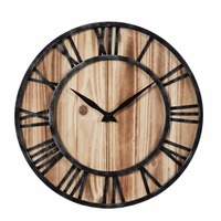 New Home decoration wall clock Wooden Hollowed Out Living Room clocks Roman Numberals Modern Design Hanging Clock Wall Decor
