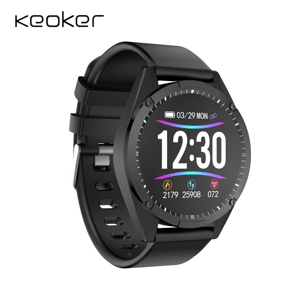 Keoker Sport Watch Fitness-Tracker Ip67 Waterproof Heart-Rate-Monitor Bluetooth Android
