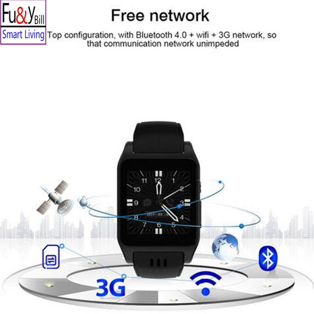 Фу & Y Билл новый оригинальный X86 Bluetooth 3 г Wi-Fi умные часы ОС Android 5.1 Камера 2.0 мегапиксельная Поддержка sim-карты WhatsApp Facebook