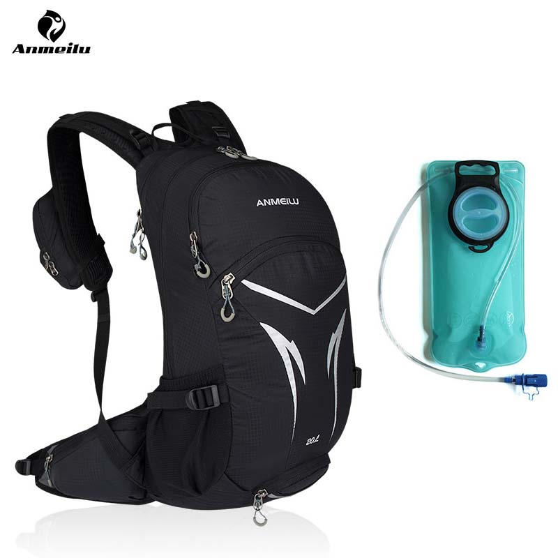 ANMEILU 2L Water Bladder Bag 20L Cycling Backpack 2018 MTB Road Men Women Bike Climbing Camping Hydration Camelback Accessories anmeilu 2l water bag 8l camelback hydration backpack ultralight sport camping climbing running cycling water bladder mochila