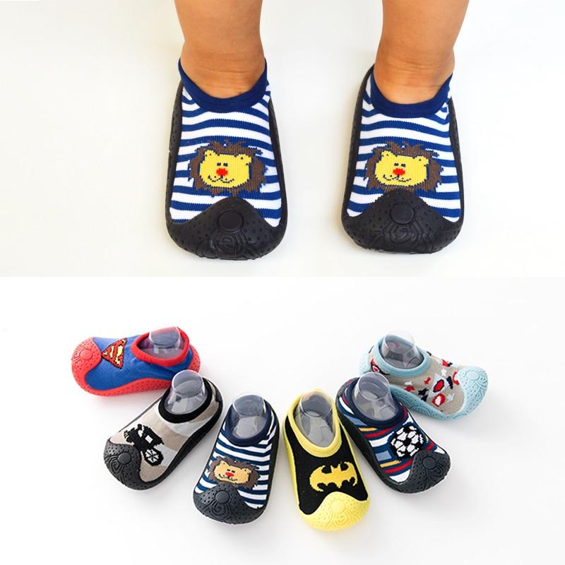 Rubber sole boys girls shoes newborn socks with sloes baby fooywear waterproof non slippery anti slip