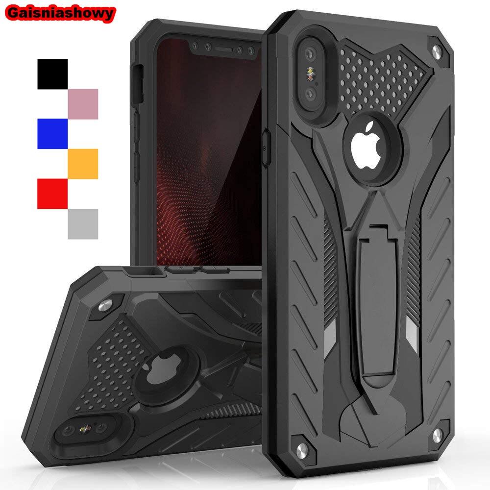 Противоударный чехол для iPhone 6 6s 7 8 5 5S SE плюс Kickstand военные Класс силиконовый чехол для iPhone X XS XR Max чехол для телефона чехол