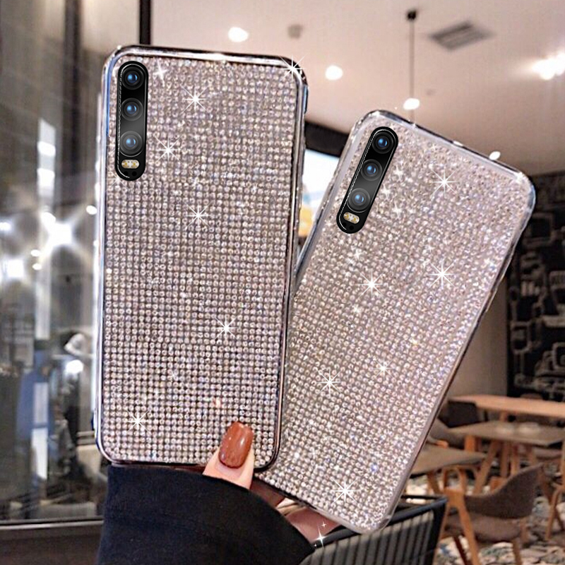 KaiNuEn luxury glitter <font><b>diamond</b></font> phone coque,cover,<font><b>case</b></font> for <font><b>huawei</b></font> <font><b>p20</b></font> pro lite p 20 p20pro p20lite girl fashion jewelled silicone image