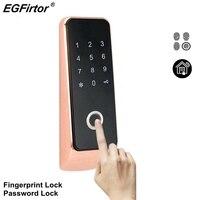 Fingerprint Password Combination Door Lock Home Electric Door Lock Battery Password Fingerprint Smart Lock Home Alarm Lock