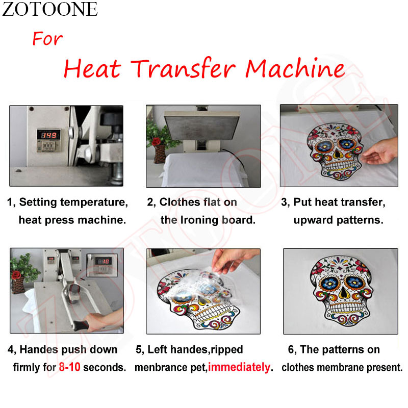 ZOTOONE Christmas Deer Heat Transfers for Clothes DIY Iron On Transfers Thermal T Shirt Fashion Patch Applique Stickers Fabric in Patches from Home Garden