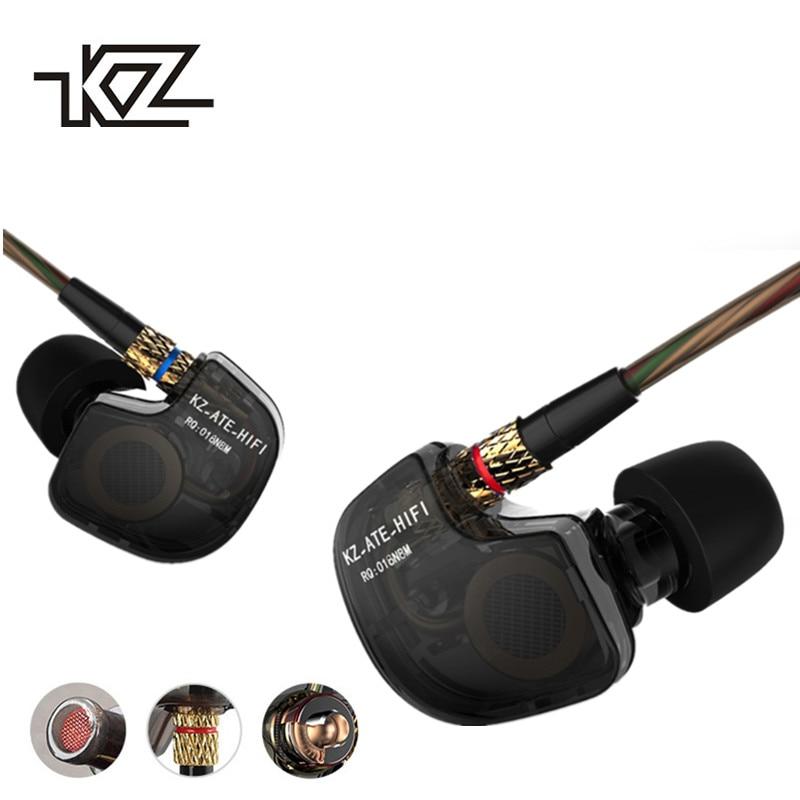 KZ ATES In-Ear Earphone ATE HiFi Earphones ATR Earphone With Mic HD9 Copper Driver Earphone For Running With Microphone