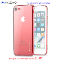Meleovo Case For Iphone 7 Plus Flexible TPU Slim Protective Case Clear Back Cover For IPhone
